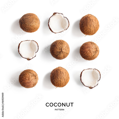 Fotografie, Tablou Creative layout made of coconut