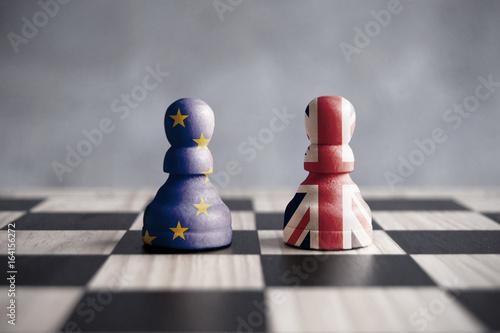 Fotografía  Brexit chess concept