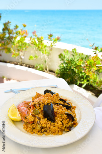 plate of typical spanish paella