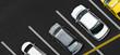 Leinwandbild Motiv Top view of Cars on parking lot
