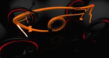 3D Illustration Of Electric Sports Bike
