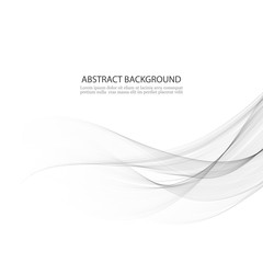 Abstract vector background, gray waved lines for brochure, website, flyer design.