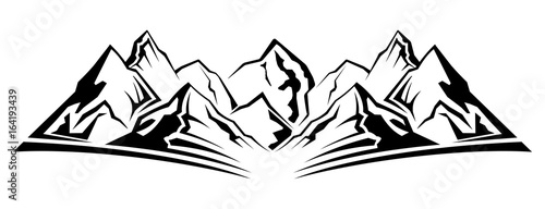 Fototapeta Simple mountain silhouette obraz
