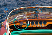Dashboard In A Vintage Wooden ...
