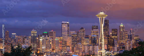 Fotografía  View of the Seattle city from Kerry Park, Washington