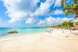 Akumal beach - paradise bay at turtle beach in Quintana Roo, Mexico - caribbean coast