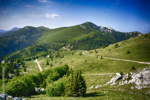 Fotografie, Obraz  View from Zavizan mountain house on Vucjak peak, Velebit mountain in Croatia