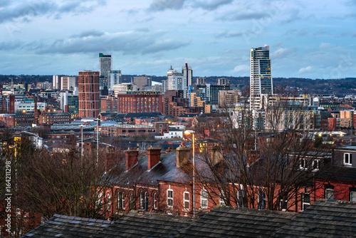 Fényképezés  Leeds City Skyline England UK