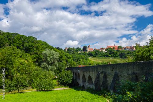 Poster Northern Europe Viadukt Rothenburg ob der Tauber