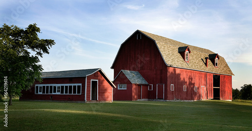Fotografie, Obraz  Big Red Barn-panorama - Door County WI