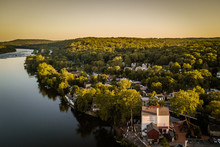 Aerial  Sunset Of New Hope PA