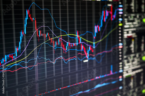 Obraz Trading screen - fototapety do salonu
