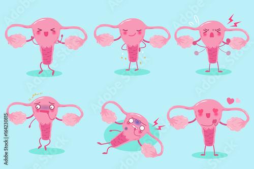 Obraz na plátne cute cartoon uterus