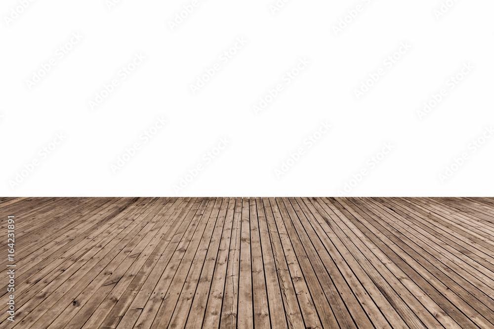 Fototapeta wooden floor isolated