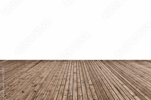 Obraz na plátně  wooden floor isolated
