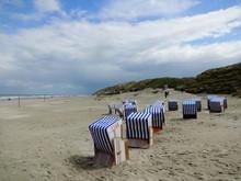 Strandkörbe Am Strand Von Nor...