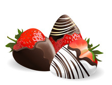 Strawberry With Chocolate Dipp...