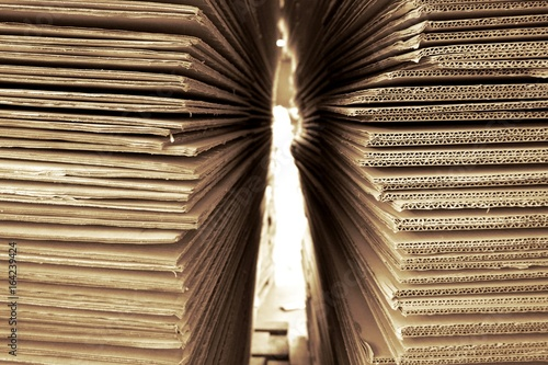 Foto  abstract corrugated paper