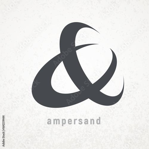 Ampersand. Elegant vector symbol on grunge background Wallpaper Mural