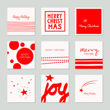 Set Of Decorative Christmas Cards