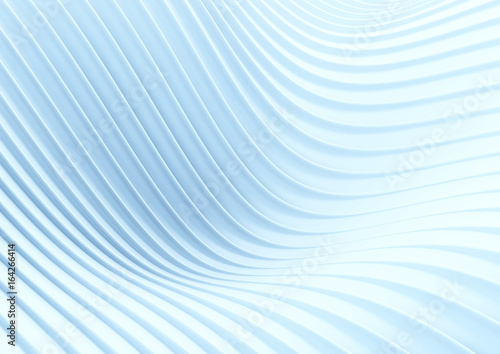 Foto op Aluminium Abstract wave Abstract white wave background. 3D illustration.