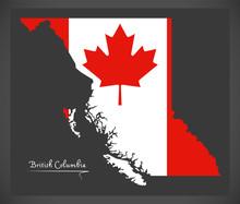 British Columbia Canada Map Wi...