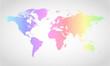 Vector Political World Map - Rainbow