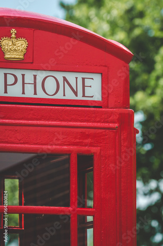 Traditional british telephone booth - Buy this stock photo