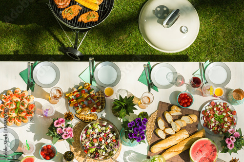 Photo Stands Grill / Barbecue Tasty barbecue food