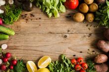 Fresh Farm Market Vegetables, ...