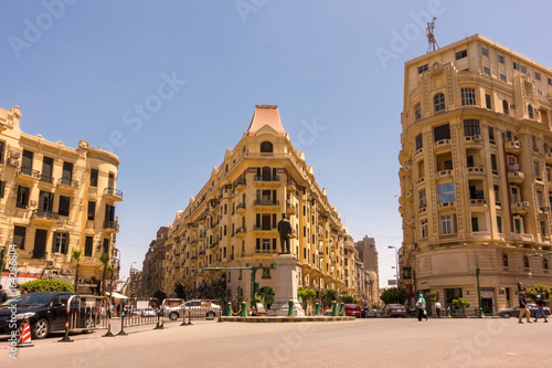 Famous Talaat Harb Square in downtown Egypt