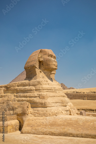 In de dag Egypte Sphinx and great pyramids