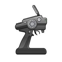 RC Car Radio Control Icon On W...