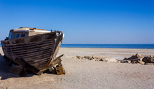 Dilapidated Salton Sea Boat