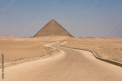 The Red pyramid of Dahshur in Giza, Egypt