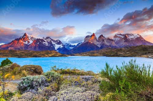 Torres Del Paine National Park, Chile. Canvas Print