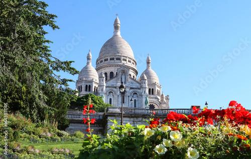 The basilica Sacre Coeur, Paris, France. фототапет