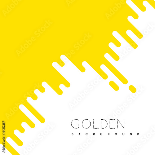 Fotografía  Golden irregular rounded lines background.