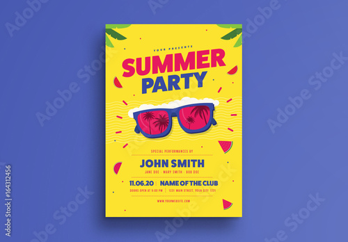 bright summer event flyer layout buy this stock template and