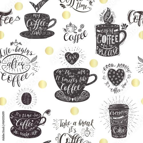 Tapety do kuchni bezszwowy-wzor-z-kawowymi-cytatami