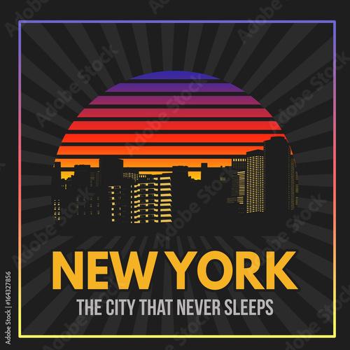 Photo  New York typography print design