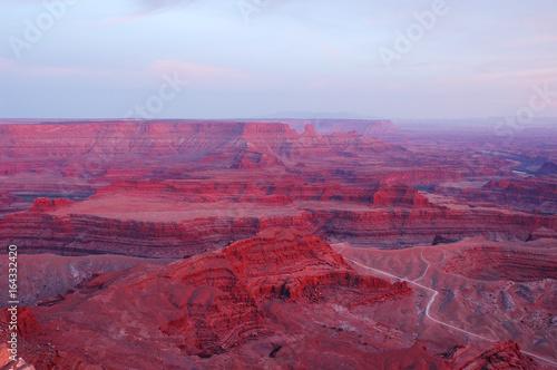 Fotografie, Obraz  sunset light on canyon land rocks