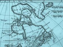 古地図 カナダ・ハドソン湾