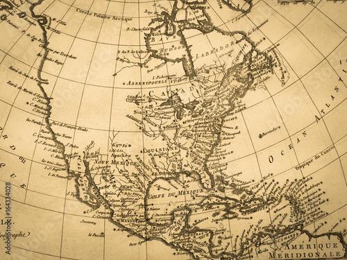 Fotografie, Obraz  古地図 北米大陸