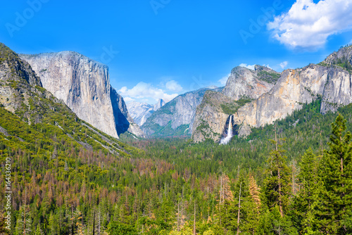 View of Yosemite Valley from Tunnel View point - view to Bridal veil falls, El C Canvas Print