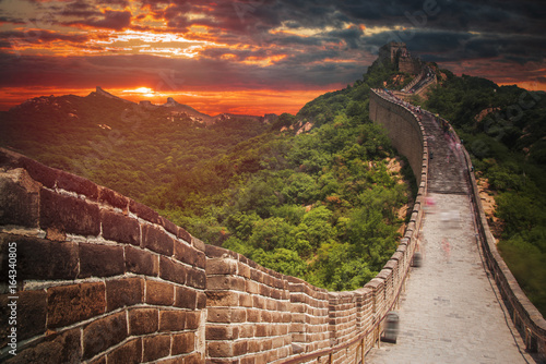 Stickers pour porte Brun profond great Chinese wall