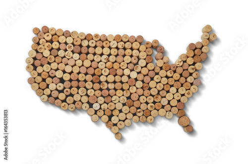 Valokuva  Wine-producing countries - maps from wine corks