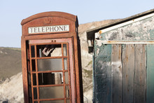 A Derelict Red Phone Box Next ...
