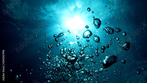 Foto auf AluDibond Blau türkis 海中写真