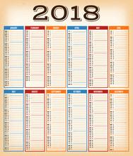 Vintage Design Calendar For Ye...